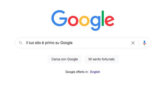 I primi posti su Google